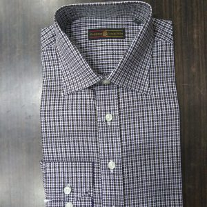 Ouch Platinum Shirt, Grey Brown Checkered Dog toothed