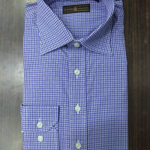 Ouch Platinum Sky blue Checkered Shirt