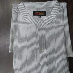 Ouch Libero Tunic Grey Stripe Shirt with Single Pocket