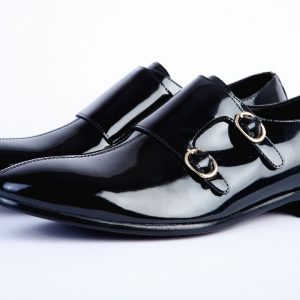 Patent Double Monk Strap