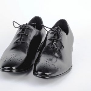 Ouch Heritage Shoe - Black Oxford Design Lace Up