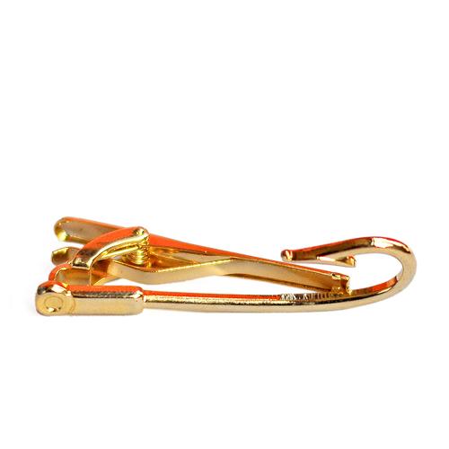 Lorenzi Napolitan Tie Clip - Gold Fish hook