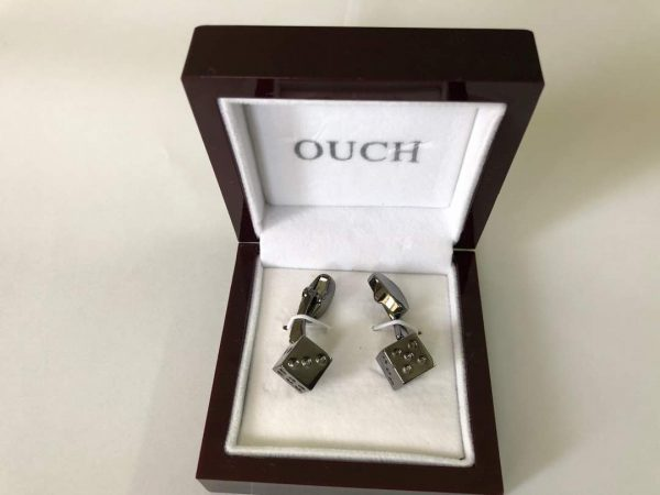 Metal Dice Cuff-links