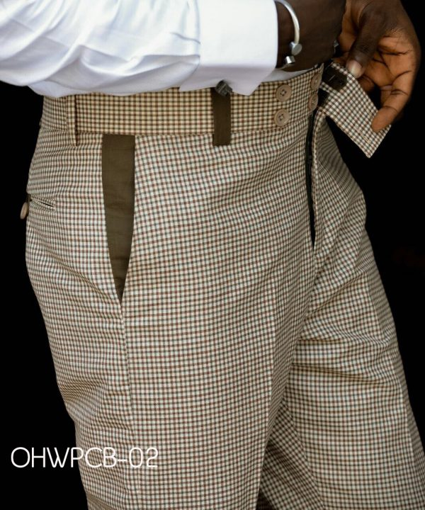Ouch Brown Checkered M2M Pant