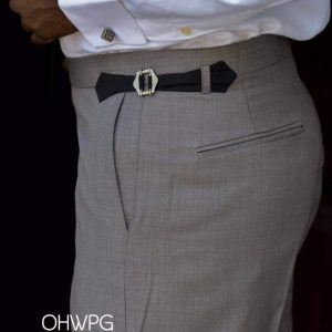 Ouch High Waist Pant - Grey Stribes