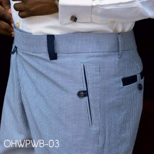 Ouch High Waist Pant - Blue and White Plaid