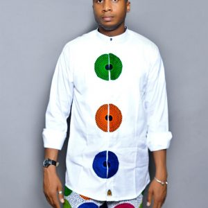 White Record Designed Ouch Ankara Wear
