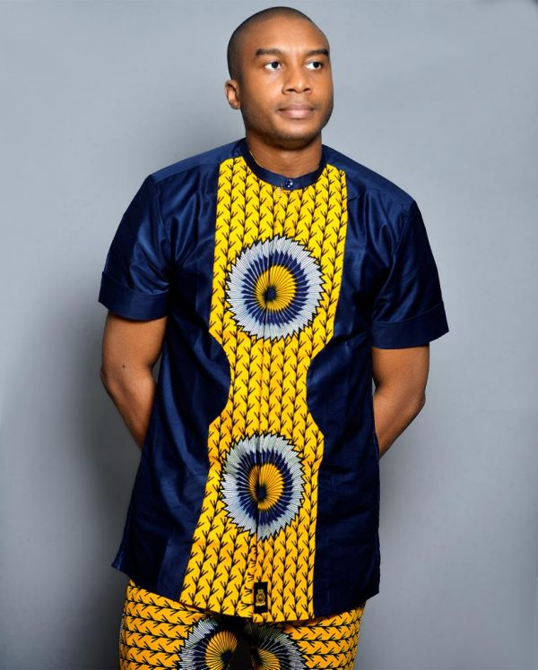 Deep Blue Designed Ouch Ankara Wear(2)