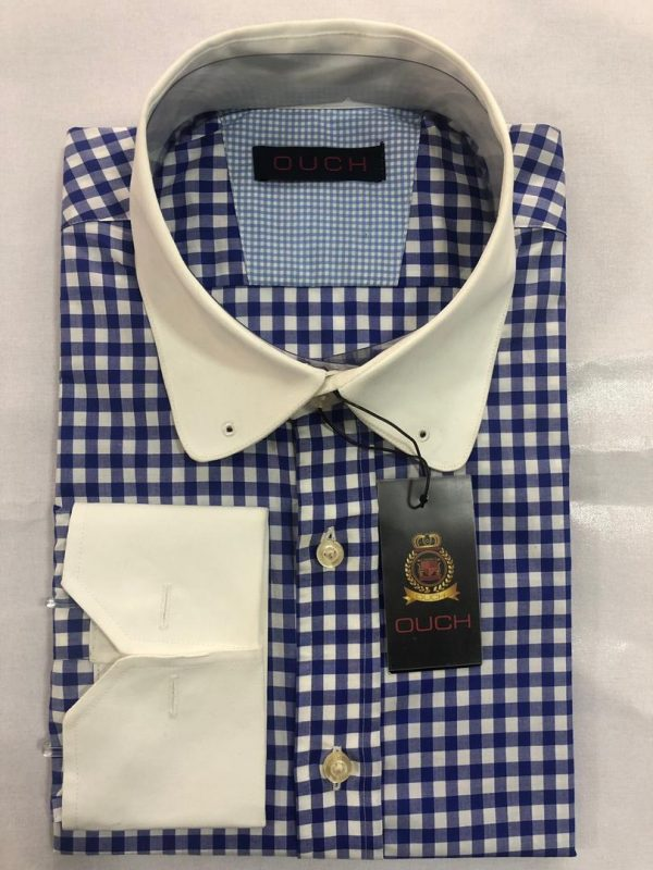 Ouch Made to Measure Blue Checkered Winchester Shirt