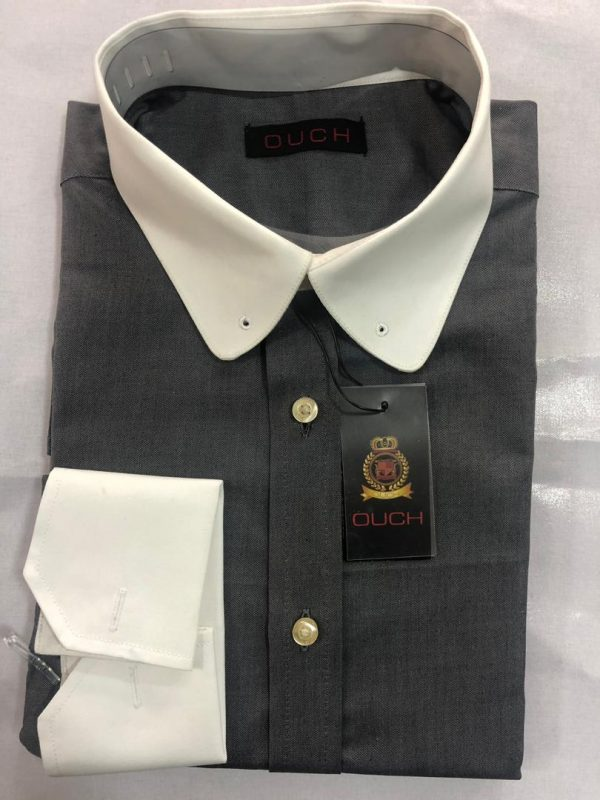 Ouch Made to Measure Grey Winchester Shirt