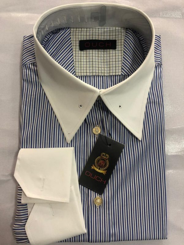 Ouch Made to Measure Light Blue Stripe Winchester Shirt